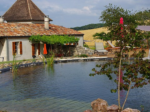 G te de charme avec piscine pr s de buzet en lot et for Camping lot et garonne avec piscine